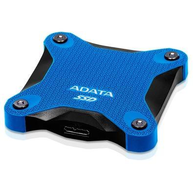 SSD Externo Adata SD600Q, 240GB, USB 3.2, Azul - ASD600Q-240GU31-CBL
