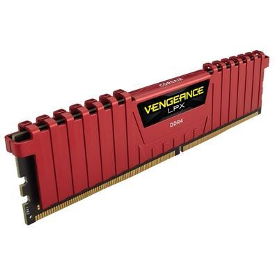 Memória Corsair Vengeance LPX 8GB (2x4GB) 2400Mhz DDR4 C16 Red - CMK8GX4M2A2400C16R