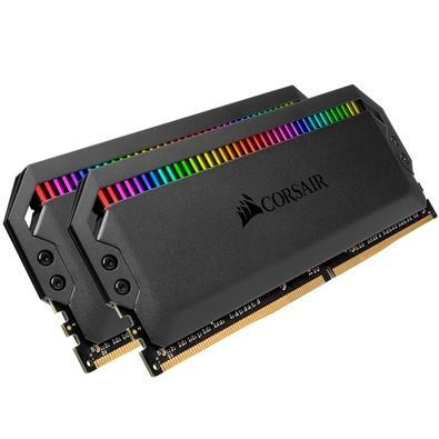 Memória Corsair Dominator RGB 16GB (2x8GB) 3200MHz  DDR4  C16 Ryzen Black - CMT16GX4M2Z3200C16