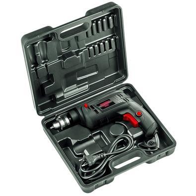 Furadeira de Impacto Mondial Power Tools, 550W, 110V, com Maleta - FI-09M