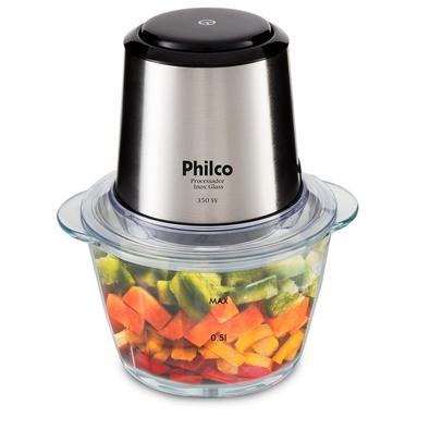 Processador Philco Inox Glass PPS01I, 350W, 220V, Inox - 51202004