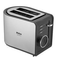 Torradeira Philco Easy Toast PTR2, 7 Níveis de Tostagem, 220V, Preta/Inox - 56202006
