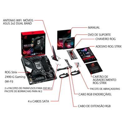 Placa-Mãe Asus ROG Strix Z490-G Gaming (Wi-Fi), Intel LGA 1200, mATX, DDR4