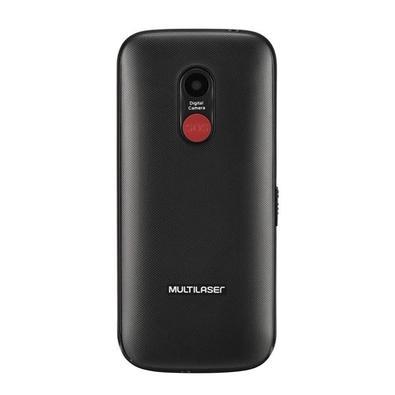 Celular Multilaser Vita, Tela 1.8´, Câmera, Lanterna, Botão SOS, Memória Expansível, Bluetooth, Dual Chip 2G, Preto - P9120