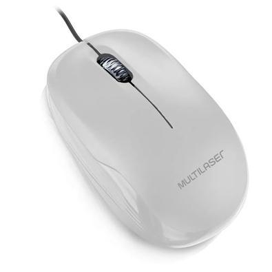 Mouse Óptico Multilaser, Branco - MO294