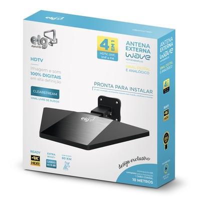 Antena Externa ELG Wave, HDTV, UHF, VHF, FM - C - HDTVEX800PLUS