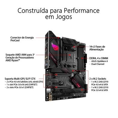 Placa-Mãe Asus ROG Strix B550-E Gaming, AMD AM4, ATX, DDR4