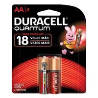 Pilha Alcalina Duracell Quantum, AA Pequena, com 2 Unidades - 6969