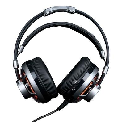 Headset Gamer ELG Extreme, LED, 7.1 Virtual Surround, Drivers 50mm, Prata - HGSS71