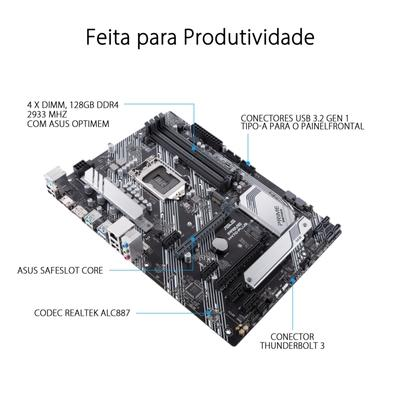 Placa-Mãe Asus Prime H470-Plus, Intel H470, ATX, DDR4