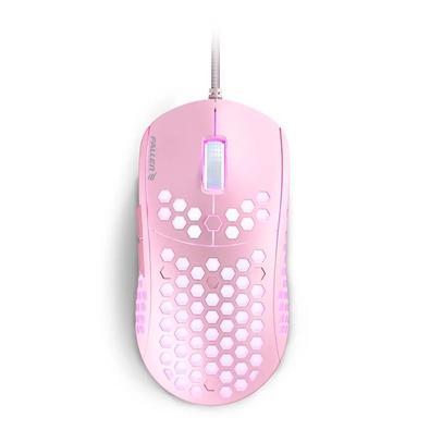 Mouse Gamer Fallen Ultraleve F75, RGB, Pink