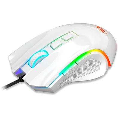 Mouse Gamer Redragon Griffin M607, RGB, 7200DPI, 6 Botões, White Lunar - M607W