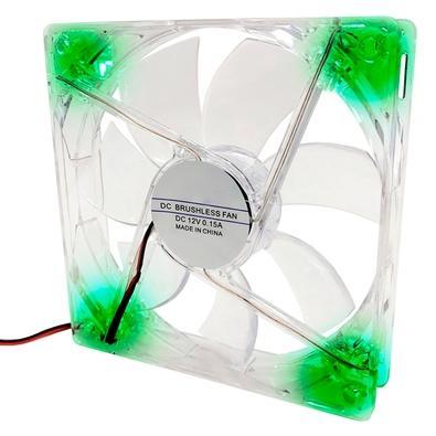 Cooler FAN Braview FLD-02, 120m, LED, Verde - 41GABCOOLXX02