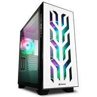 Gabinete Sharkoon Elite Shark CA300T, Full Tower, RGB, com Fan, Lateral em Vidro Temperado, Branco - CA300T White