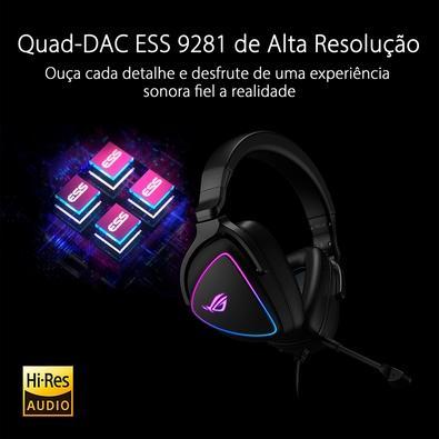 Headset Gamer Asus ROG Delta S, RGB, Drivers 50mm - 90YH02K0-B2UA00