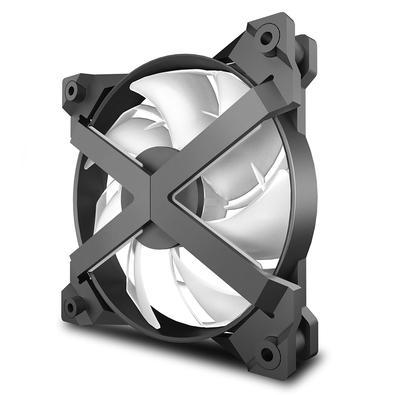Kit 3 Cooler FAN DeepCool MF120 GT, 360mm, ARGB, Branco - DP-GS-F12-AR-MF120GT-3P