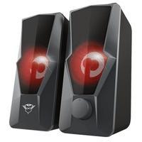 Caixa de Som Gamer Trust GXT 610 Argus Illuminated 2.0 Speaker Set, LED, 10W RMS, USB - 23737