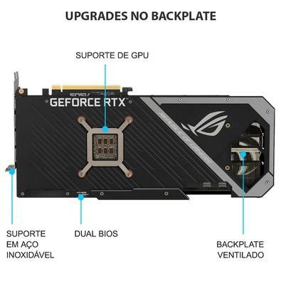 Placa de Vídeo Asus NVIDIA Rog Strix Gaming GeForce RTX3070, OC 8GB, GDDR6 - ROG-STRIX-RTX3070-O8G-GAMING