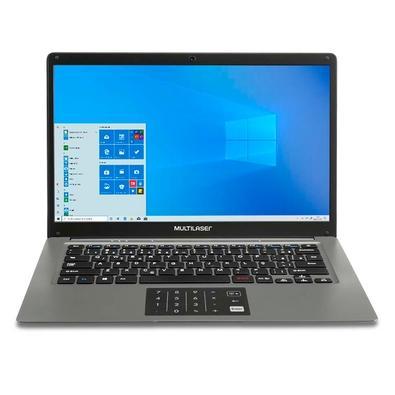 Notebook Multilaser Legacy Cloud Intel Atom Z8350, 2GB, 32GB, Windows 10 Home, Cinza - PC131
