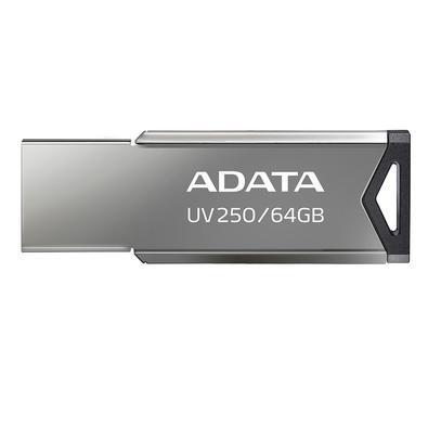 Pen drive Adata AUV250, 64GB, USB 2.0, Preto   - AUV250-64G-RBK