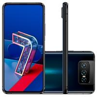 Smartphone Asus Zenfone 7, 128GB, RAM 6GB, 64MP, Snapdragon 865, Tela 6.7´, Preto - ZS670KS-2A028BR