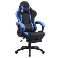 Cadeira Gamer Husky Gaming Tempest 500, Preto e Azul, Com Almofadas, Descanso Para Pernas Retrátil, Reclinável - HGMA081