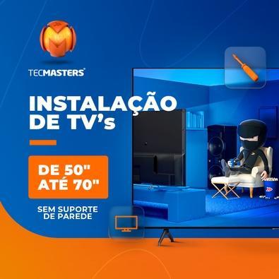 """Instalação de TV 50"""" até 70"""" sem suporte de parede"""