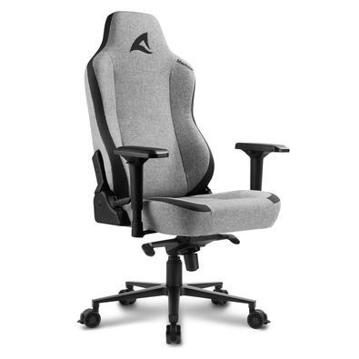 Cadeira Gamer Sharkoon SGS40 Fabric, 150kg, Braço 4D, Preto/Cinza