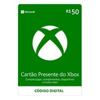 Gift Card Xbox: 50 Reais - Código Digital