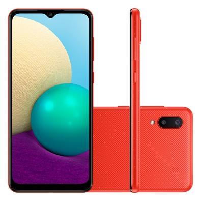 Celular Smartphone Samsung Galaxy A02 A022m 32gb Vermelho - Dual Chip