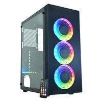 Gabinete Gamer K-MEX ASGARD IV CG-04Z5, Lateral em Vidro, Preto - CG04Z5RH003CB0X