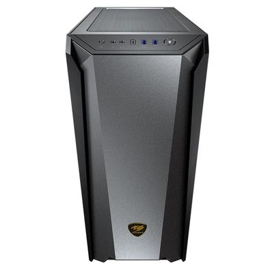 Gabinete Gamer Cougar MX660 Iron RGB, Mid Tower, 1x FAN ARGB Traseira, Lateral em Vidro Temperado, Dark Black - 385BMS0.0006