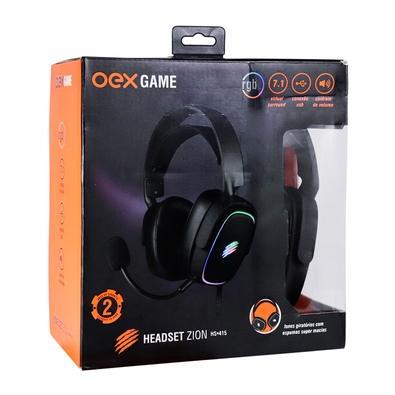 Headset OEX Game Zyon, RGB, Virtual Surround 7.1, Microfone Removível, Preto - HS 415