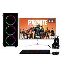 "PC Gamer Completo XP 3Green, Intel Core i7, 8Gb, HD 2Tb, SSD 120Gb, Geforce GT 1030 2Gb, Fonte 500W com Monitor 21.5"" Prata - Linux"