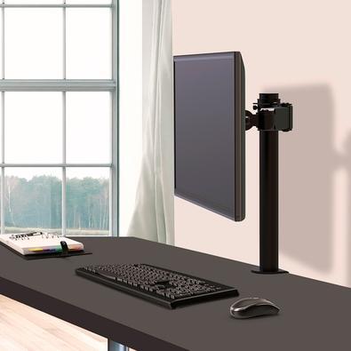 Suporte de Mesa ELG Tipo Torre Multi Articulado para Monitor de 14´ Até 27´ - F50D