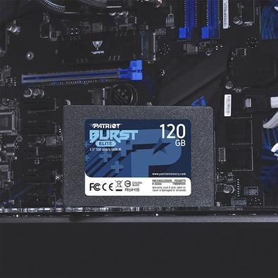 SSD Patriot Burst Elite 120GB, 2.5´, SATA III, Leitura: 450MB/s e Gravação: 320MB/s - PBE120GS25SSDR