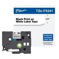 Fita Brother para Rotulador TZEFX241 18mm, Flexível, Branco
