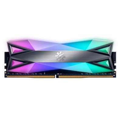 Memória XPG Gammix D60G, 8GB, 3200MHz, DDR4, RGB, CL16, Cinza - AX4U32008G16A-ST60