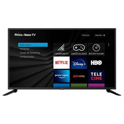 """Smart TV Philco Roku 42"""" LED Full HD, com Wi-Fi e Dolby Audio, Bivolt, Preto - PTV42G52RCF"""