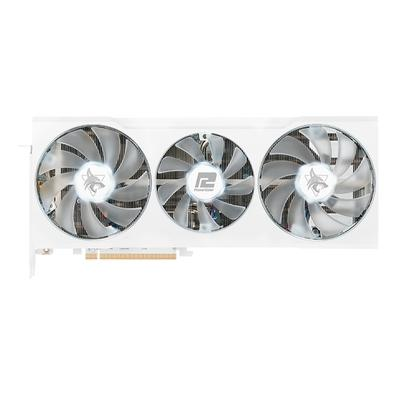Placa de Vídeo PoweColor Hellhound Spectral White AMD Radeon RX6700XT,  16 Gbps, 12GB GDDR6, DLSS, Ray Tracing - AXRX 6700XT 12GBD6-3DHLV2