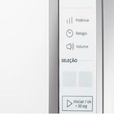 Microondas Brastemp BMS45CB, 32 Litros, 220V, Painel Integrado e Display LCD, Branco - BMS45CBBNA