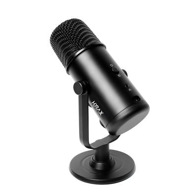 Microfone Gamer Condensador Hyrax by Motospeed HMC900, Base de Metal, Windows/Mac/Android/IOS, USB, Plug And Play, Preto - HMC900