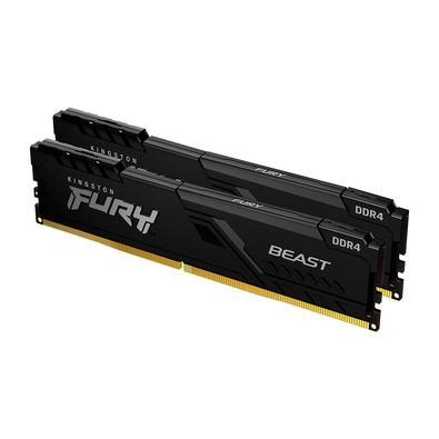 Memória Kingston Fury Beast, 32GB (2x16GB), 3733MHz, DDR4, CL19, Preto - KF437C19BB1K2/32