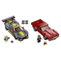LEGO Speed Champions - Chevrolet Corvette C8.R Race Car e 1968 Chevrolet Corvette, 512 Peças - 76903