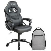 Cadeira Gamer Husky Gaming Frost, Black White - HFR-BW + Mochila Targus Urbanite Plus 15.6´ - TBB582DI70
