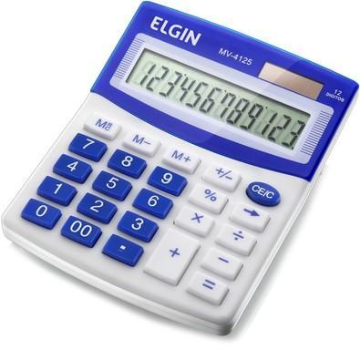 Elgin Calculadora de Mesa Azul - MV-4125