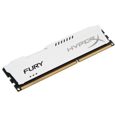 Memória HyperX Fury, 8GB, 1600MHz, DDR3, CL10, Branco - HX316C10FW/8