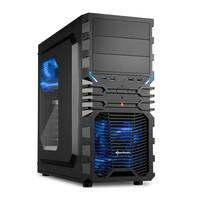 Gabinete Sharkoon ATX VG4-W Blue