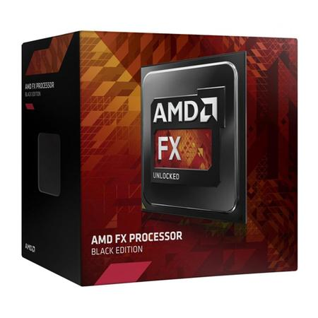 Processador AMD FX 8370E Black, Cache 16MB, 3.3GHz (4.3GHz Max Turbo), AM3+ FD837EWMHKBOX