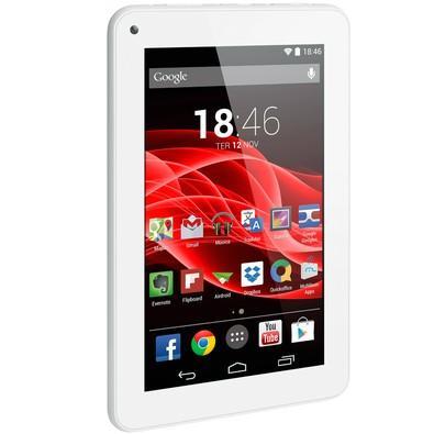 Tablet Multilaser M7S Branco, Quad Core, Android 4.4, Dual Câmera, Tela 7´´, Wi-Fi, 8GB - NB185